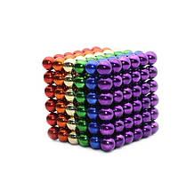 Разноцветный неокуб 216 шариков. 5мм. Магнитные шарики. Конструктор, фото 1
