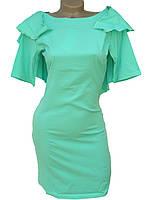 Платье с глубоким вырезом на спине (бирюзовый 42-46)