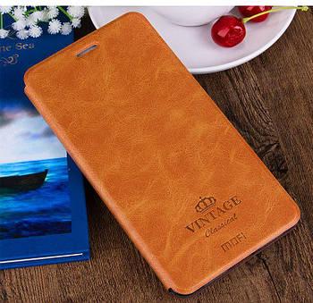Чехол книжка Mofi Vintage для Xiaomi Redmi 8 Коричневый