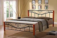 Кровать металлическая Миллениум Вуд 160-200 см (черная)