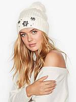 Женская теплая шапка Victorias Secret зимняя с помпоном оригинал США