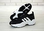 Чоловічі кросівки Adidas Magmur (чорно-білі), фото 6
