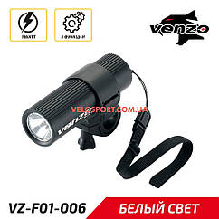 Передний фонарь VENZO L-1 черный
