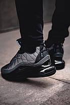 """Зимние кроссовки, ботинки на меху Fila """"Черные"""", фото 2"""