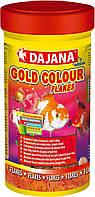 Корм GOLD COLOUR для золотых рыб, карасей и декоративных рыб в хлопьях , Dajana 100мл