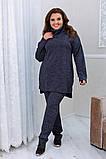 Тёплый удобный костюм туника+штаны, р.52-54, 56-58, 60-62 код 3299Ф, фото 4