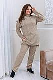 Тёплый удобный костюм туника+штаны, р.52-54, 56-58, 60-62 код 3299Ф, фото 10