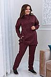 Тёплый удобный костюм туника+штаны, р.52-54, 56-58, 60-62 код 3299Ф, фото 6