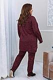 Тёплый удобный костюм туника+штаны, р.52-54, 56-58, 60-62 код 3299Ф, фото 7
