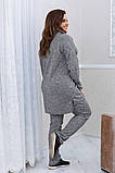 Тёплый удобный костюм туника+штаны, р.52-54, 56-58, 60-62 код 3299Ф, фото 3
