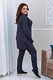 Тёплый удобный костюм туника+штаны, р.52-54, 56-58, 60-62 код 3299Ф, фото 5