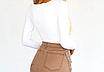 Женское боди Forefair Natali с длинными рукавами, обтягивающий, квадратный вырез white, фото 2