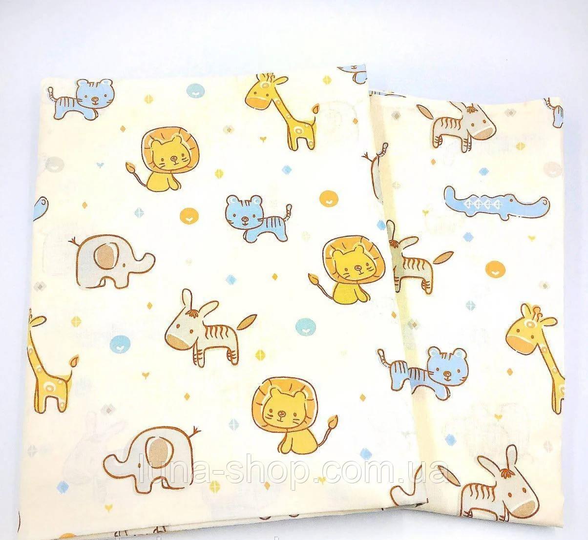 Комплект Зоо в детскую кроватку/садик с резинкой и без, бязь