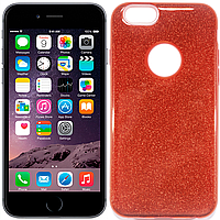 Чехлы Twins Чехол силиконовый 3in1 Блёстки для iPhone 6 Red (15413)
