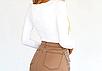Женское боди Forefair Natali с длинными рукавами, обтягивающий, квадратный вырез white, фото 3