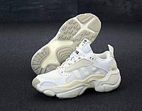"""Кроссовки женские Adidas Consortium x Naked Magmur Runner """"Белые"""" адидас р. 36-40"""