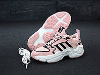 "Кроссовки женские Adidas Consortium x Naked Magmur Runner ""Розовые"" адидас р. 36-40"