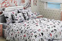 Комплект Совы серые в детскую кроватку/садик с резинкой и без, бязь