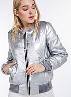 Женская куртка-бомбер демисезонная «Мисана» (Пудровая, золотистая, серебристая, розовая | S, M, L)