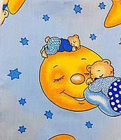 Комплект Спящий мишка в детскую кроватку/садик с резинкой и без, бязь