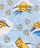 Комплект Пчелки в детскую кроватку/садик с резинкой и без, бязь