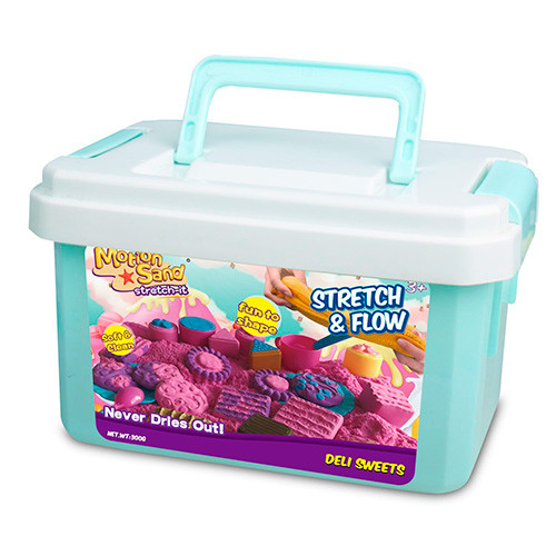 Песок для творчества, 3 цвета, формочки-сладости, чайный сервиз, 3 цвета, LS-22