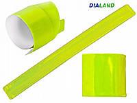 Светоотражающий SLAP браслет для безопасности детей и взрослых, зеленый 30 см, фото 1