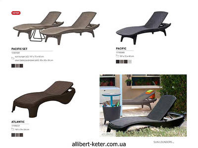 Шезлонги и лежаки Allibert by Keter