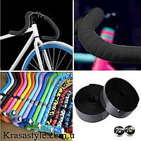Обмотка на руль велосипеда (черная) с заглушками