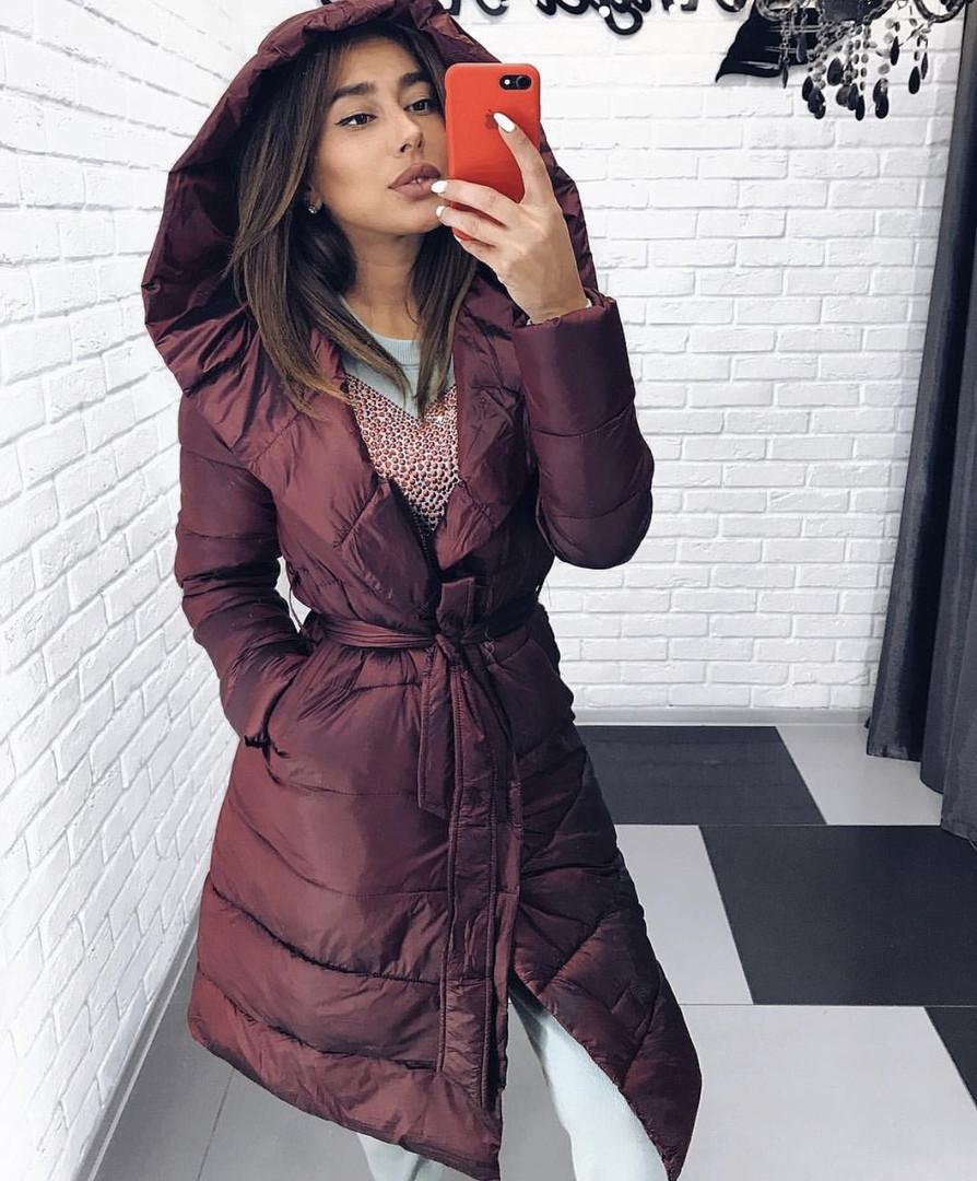 Синтепоновое женское пальто б605
