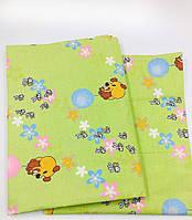 Комплект Винни на салатовом в детскую кроватку/садик с резинкой и без, бязь, фото 1