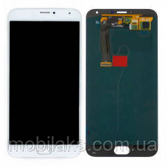 Дисплей (LCD) Meizu MX5 с сенсором белый, фото 2