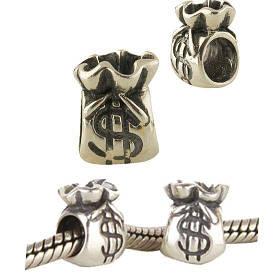 Серебряный шарм SilverBreeze без камней 1474662, КОД: 1193485