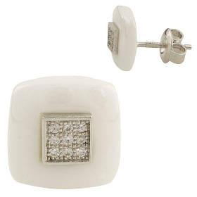 Серебряные серьги SilverBreeze с керамикой 1154717, КОД: 1193499