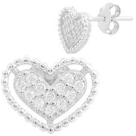 Серебряные серьги SilverBreeze с фианитами 1560884, КОД: 1193784