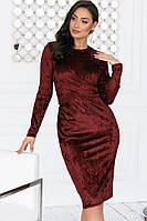 Платье из мраморного бархата 45-5141-1, фото 1