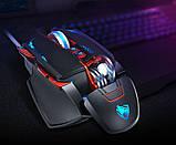 Миша комп'ютерна ігрова Tanderwolf V9, 8 кнопок провідна чорна, фото 2