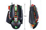 Миша комп'ютерна ігрова Tanderwolf V9, 8 кнопок провідна чорна, фото 4