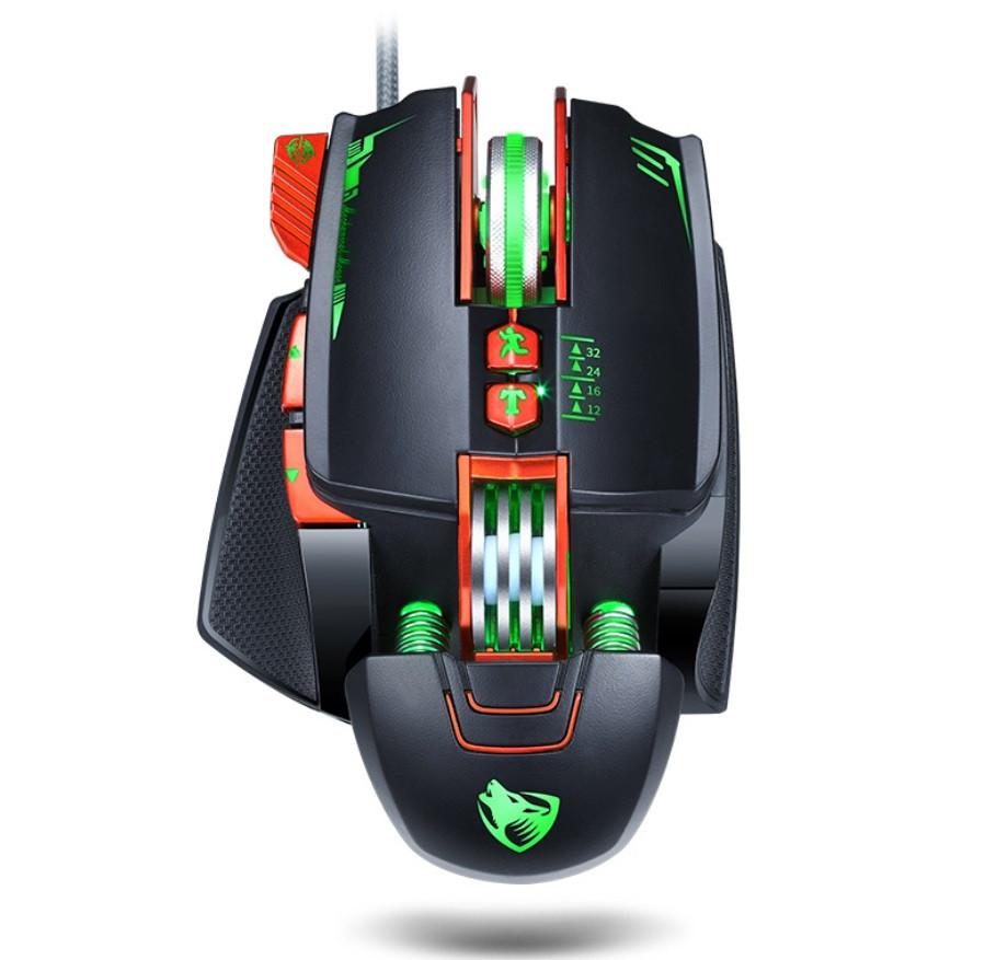 Миша комп'ютерна ігрова Tanderwolf V9, 8 кнопок провідна чорна