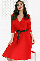 Платье с кожаным поясом 45-5143, фото 1
