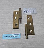 Петля  мебельная латунь 50 мм Левая