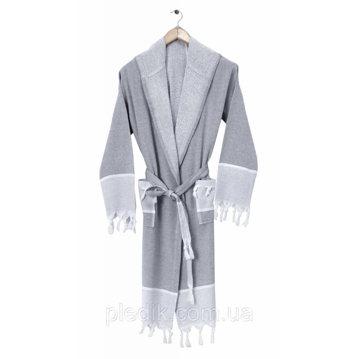 Халат для сауны Arya Seren серый