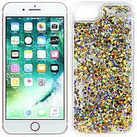 Чехлы U-Like Чехол Liquid mobile Glitter Series 5 для iPhone 7/8 Gold (19503)
