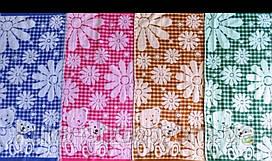 Полотенце лен-махра 25х50 ( для садика), 4 цвета