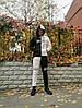 Зимовий чоловічий спортивний костюм чорний з білим