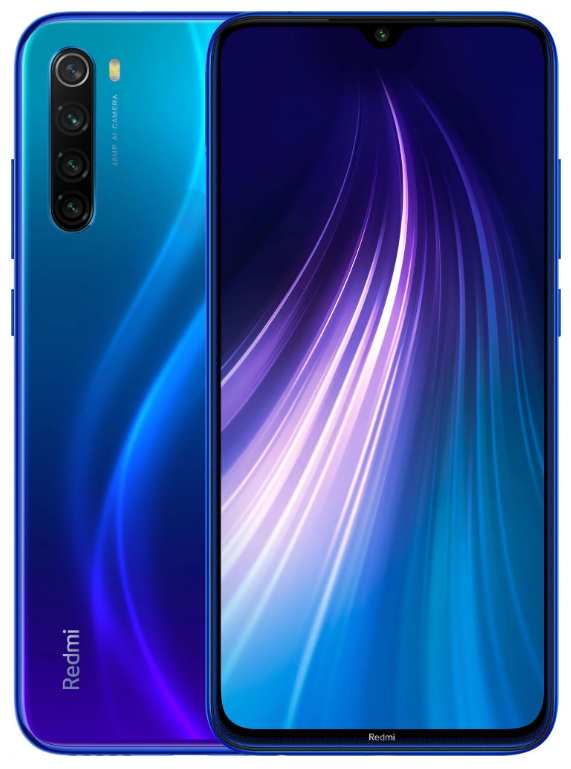 "Xiaomi Redmi Note 8 4/64 Gb Neptune Blue, 6.3"", Snapdragon 665, 3G, 4G (Global)"