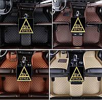Ковры в салон Toyota Land Cruiser Prado 120 (2002-2009) Кожаные 3D