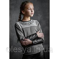 Теплый Свитшот для девочек TM LOVEIS. Размеры 140- 170