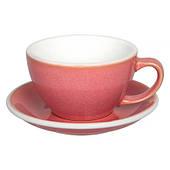 Чашка и блюдце для латте Loveramics Egg Berry 300 мл