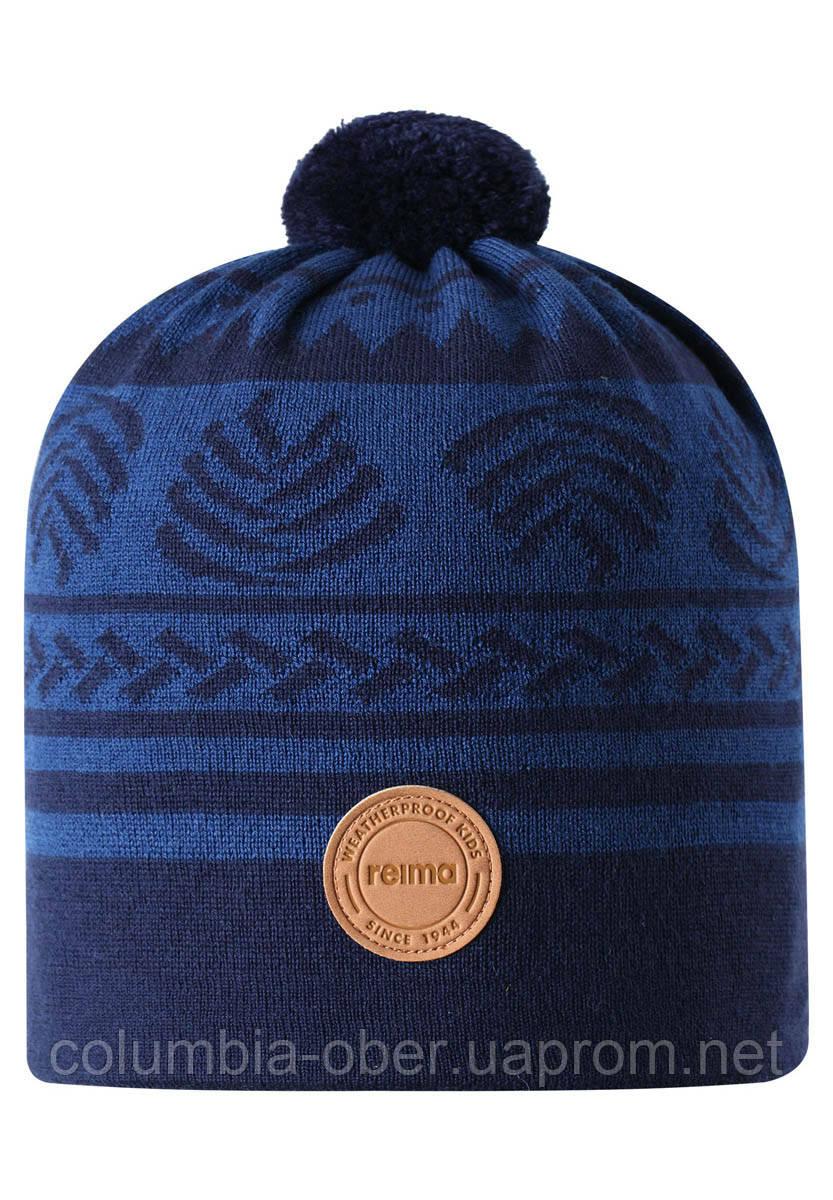 Демисезонная шапка-бини для мальчика Reima Leimu 538073-6981. Размеры 48/50 и 56/58.
